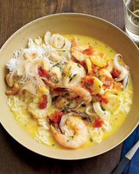 Brazilian Seafood Soup (Moqueca) | This tangy, buttery, gorgeous soup—bright red with dendê oil—is Daniel Boulud's riff on a recipe by French chef Claude Troisgros.