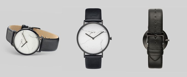 Мраморные часы из коллекции бренда The Horse