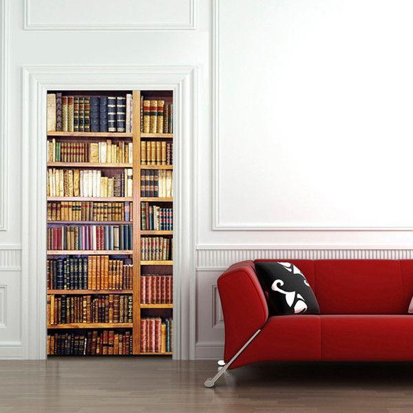 Tapeta na drzwi 100x210 biblioteczka f-A-0002-a-a - artgeist - Dekoracje #book #books #art #design #wallpaper