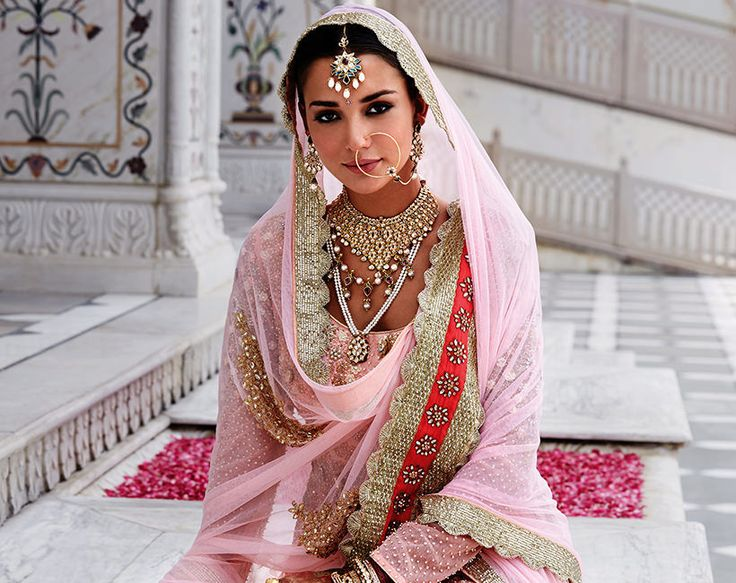 Tanishq - Sikh Wedding. Nice colors and pearl strings