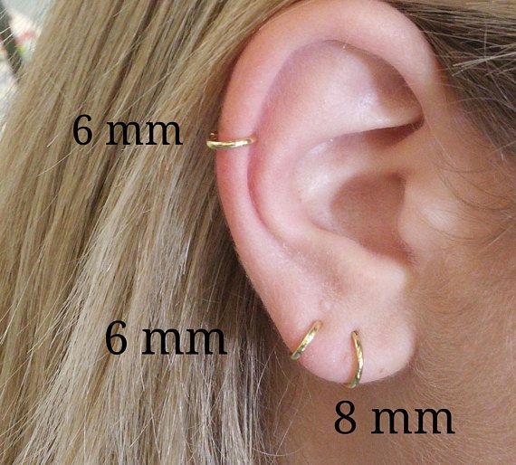 65c91af7c880 Hoop earrings, Sterling silver hoop, Small hoops, Silver hoops, Tiny hoops,