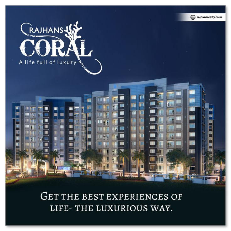 Get the best experiences of life - the luxurious way. #RajhansCoral #Navsari