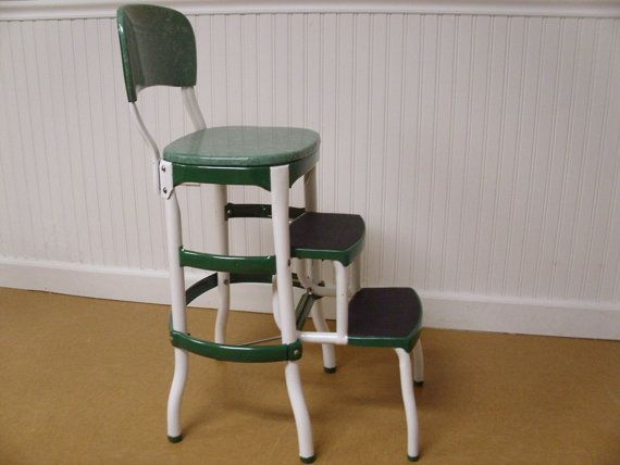 Superb Vintage Step Stool  Perfect For The Kitchen! Awesome Design