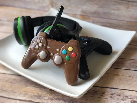 Chocolate Video Game Controller Chocolate Playstation Etsy Chocolate Videos Gamer Gifts Chocolate Gifts