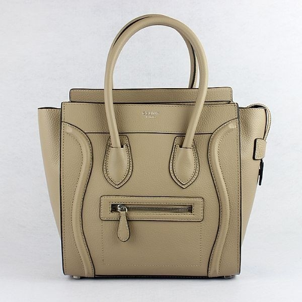 Celine Luggage Mini Bag fluorescence Pattern Apricot
