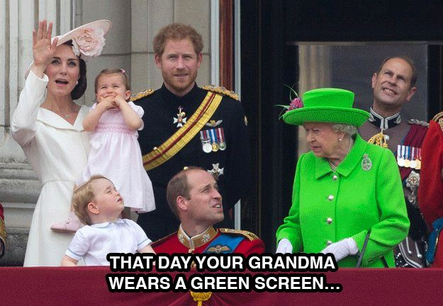 The Internet Reacted to the Queens Green Birthday Outfit in the Funniest Way Imaginable - BlazePress