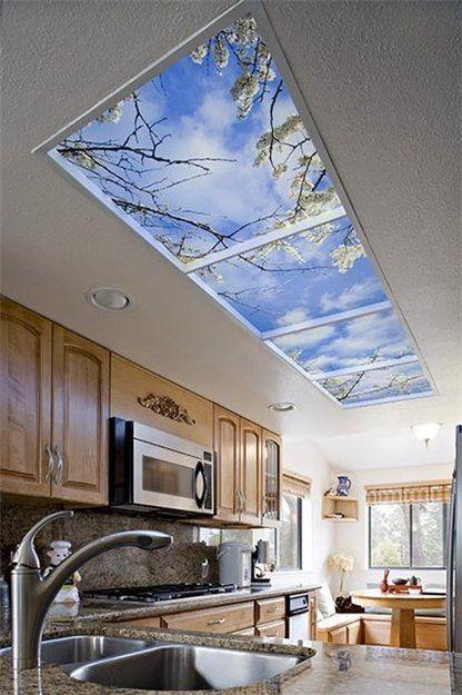 фальш окно,преимущества ложного окна,как использовать фальш окно,фальш окно в стене,ложное окно в потолке,как расширить пространство с помощью фальш окна,ложное окно с зеркалом,фальш окно с подсветкой
