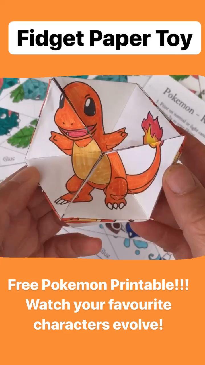 Pokemon Evolution DIY Kaleidoscope Paper Toy – Red Ted Art