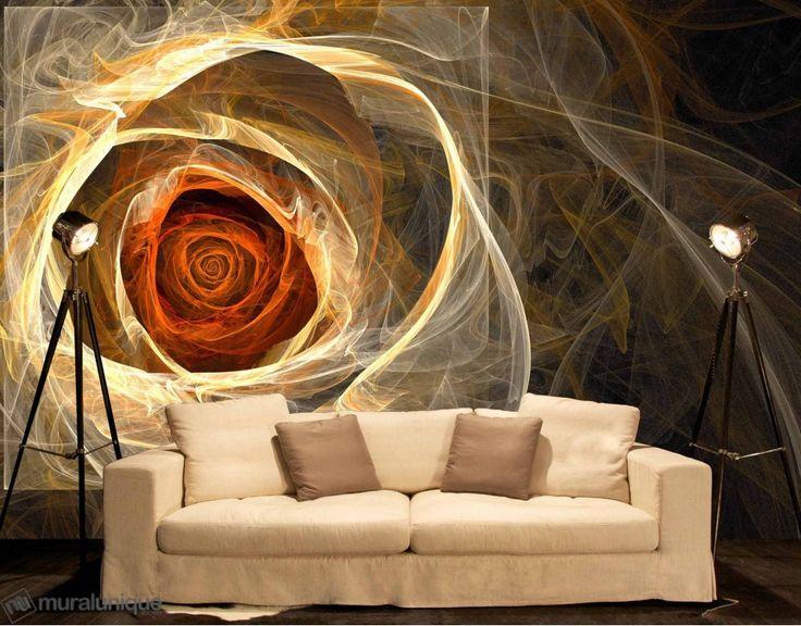 Fractal Rose | Buy Prepasted Wallpaper Murals Online - Muralunique.com