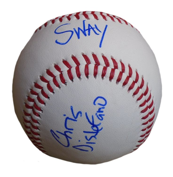 Sway Calloway & Chris Distefano Autographed Rawlings ROLB Leather Baseball, Proof Photo