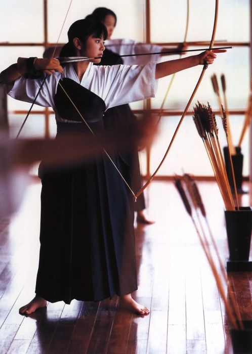 Kyudo, (way of the bow) is a modern Japanese martial art (gendai budō); kyudo practitioners are referred to as kyudoka (弓道家). Kyudo is based on kyūjutsu (art of archery), which originated with the samurai class of feudal Japan.    Kyudo is practiced by thousands of people worldwide, and is taught at Japanese schools.