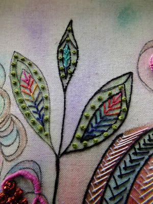 ♒ Enchanting Embroidery ♒ embroidered leaves
