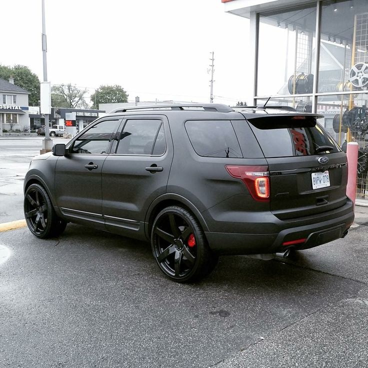 #Ford #Explorer #Concave #Rims #Wheels #BlackOnBlack #SmokedOut #Stance