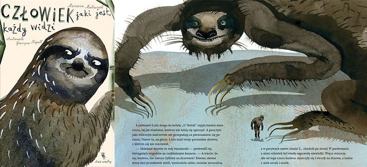 """Okładka i rozkładówka książki """"Człowiek, jaki jest każdy widzi"""", autor: Marzena Mauszak, ilustracje: Grażyna Rigall, fot. Dwie Siostry"""
