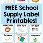 Free Printable School Supply Labels.