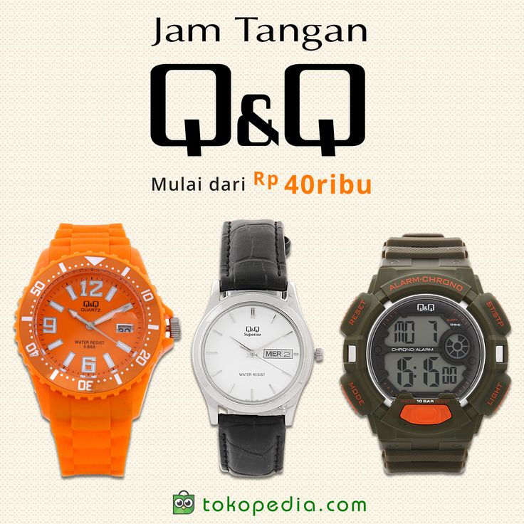 Yuk beli Jam Tangan Q&Q murah, mulai dari Rp 40.000,- hanya di https://www.tokopedia.com/hot/jam-tangan-qq
