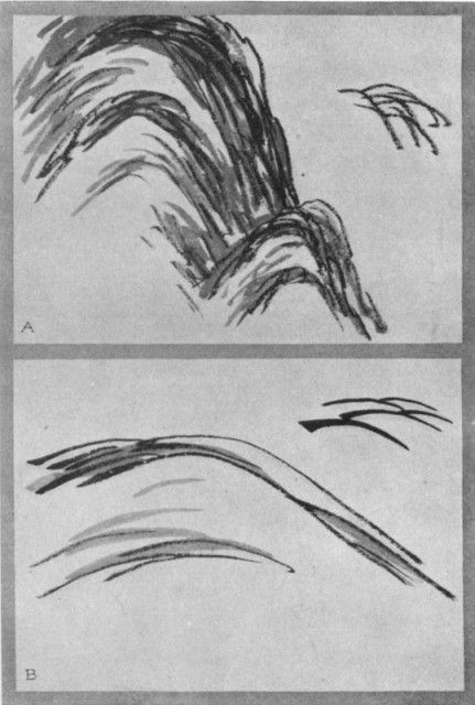 Scattered Hemp Leaves (a). Wrinkles on the Cow's Neck (b). Plate XXVI.