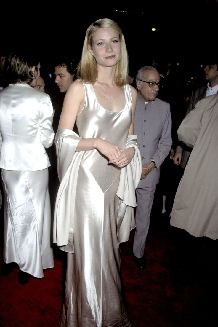30+ Times '90s Gwyneth Paltrow Was Our Style Crush #refinery29  http://www.refinery29.com/2016/03/106619/gwyneth-paltrow-lookbook-throwback-90s-fashion#slide-9  Jefferson in Paris Premiere, 1995Gwyneth at 23 years old in a bias-cut white silk dress and matching shawl. With no jewelry, nail polish, and minimal makeup, this look is heaven. ...