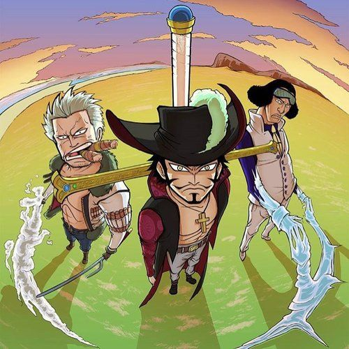 Smoker, Mihawk y Aokiji - One Piece