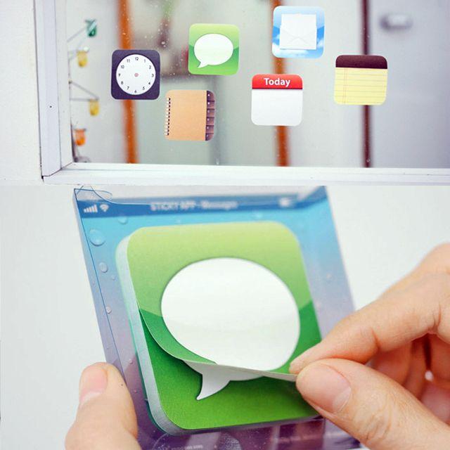 Hermosas notas adhesivas con forma de icono de iPhone!