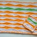 Free Pattern:Summer Waves Placemat and Coaster. FREE PATTERN 5/14.