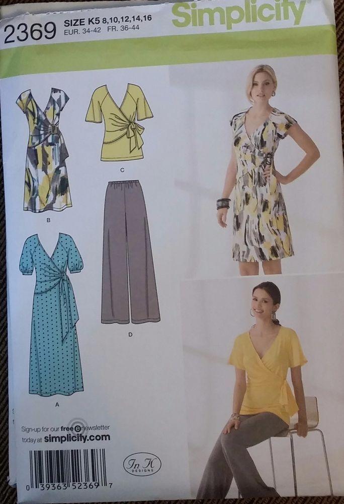 Simplicity Pattern 2404 sizes 16-24 Misses'/Miss Petite dress 3 styles FS