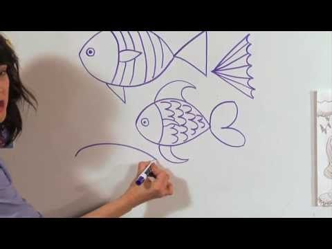 How to draw a Fish video - Great Artist Mom - Guided Drawing