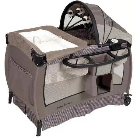 BEST PLAYPEN I HAVE SEEN!!! Baby Trend Deluxe Nursery Center Playard, Hathaway