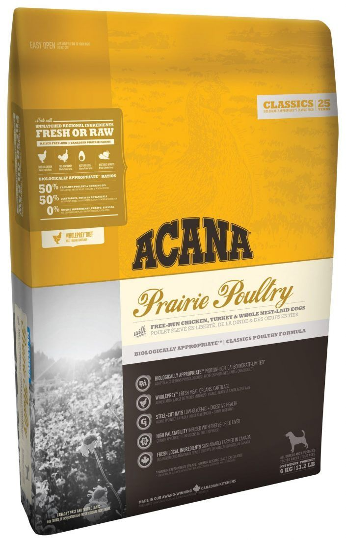 Acana Classics Prairie Poultry Dry Dog Food Dog Food Recipes