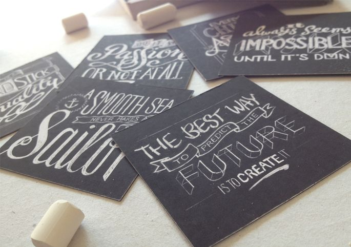 Chalk Typography Cards