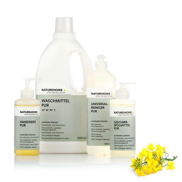 Allergiker Set Bio Waschmittel Reinigungsmittel Handseife Öko Reiniger vegan