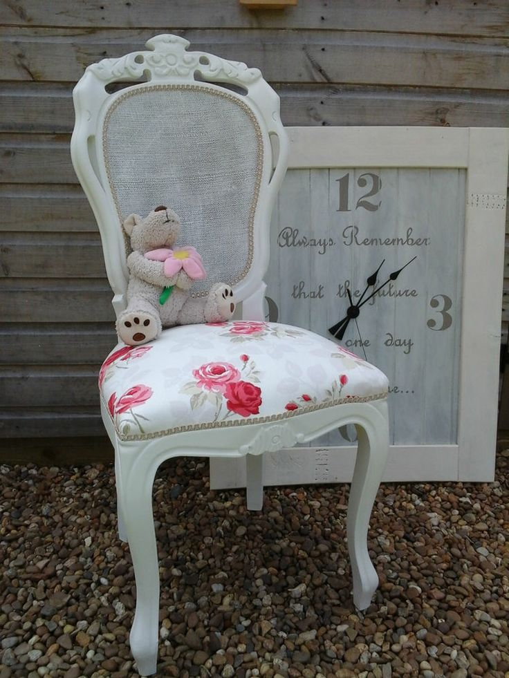 French Louis Cau Style Shabby Chic Rococo Bedroom Chair