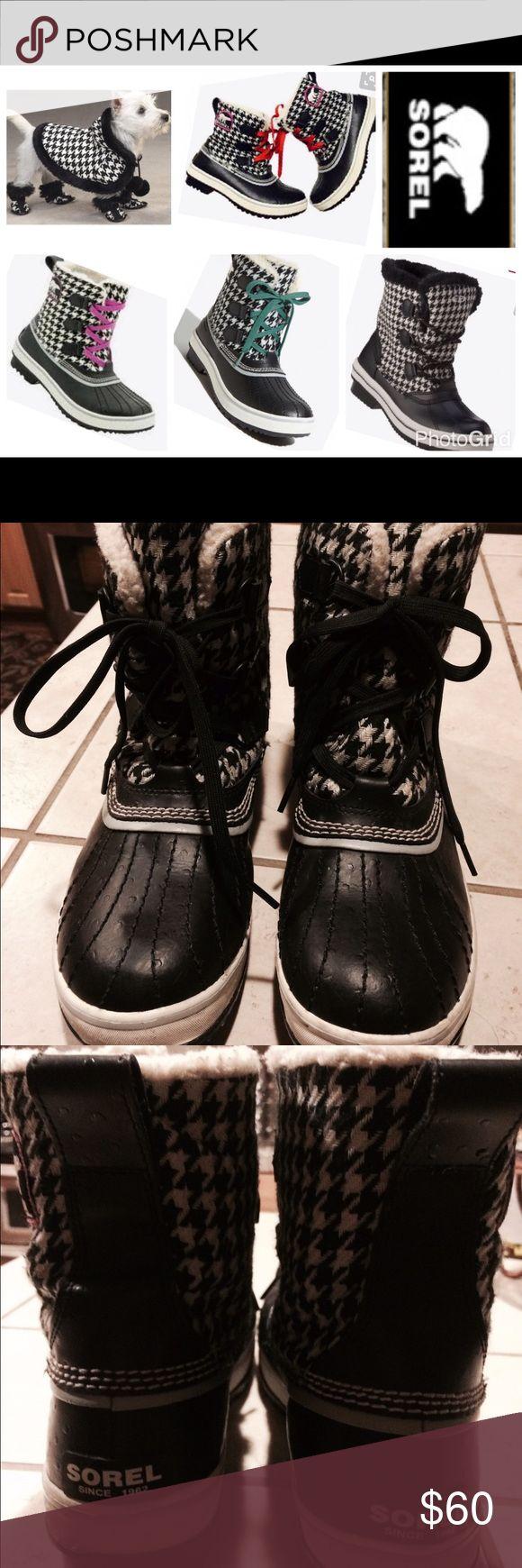 SOREL RAIN/SNOW BOOTS Sorel winter/rain boots rated -10 degrees sheepskin fur inside, water resistant outside used but still in great shape Sorel Shoes Winter & Rain Boots