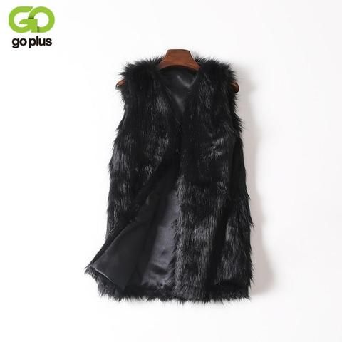 abb6a121640 GOPLUS Imitation Fur Coats Vest Plus Size Winter Women s Faux Fur Vest Thick  Warm Top Artificial Fur Vest Women Colete Feminino