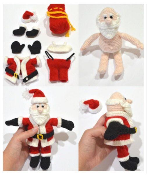 Santa Claus Crochet Pattern Christmas Gift por WallDecal2013