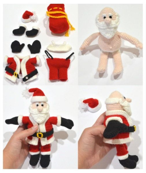 Santa Claus Crochet Pattern, Christmas Gift, Christmas Party Decoration Free Ship on Etsy, $5.76 CAD