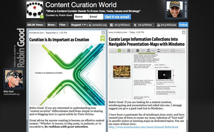 Content Curation World - di Robin Good - http://curation.masternewmedia.org/