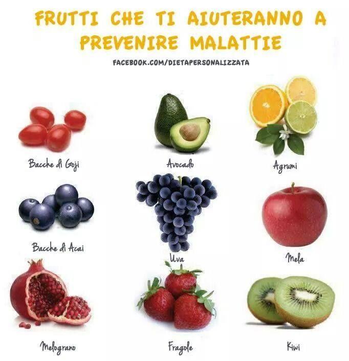 frutti che aiutano a prevenire le malattie