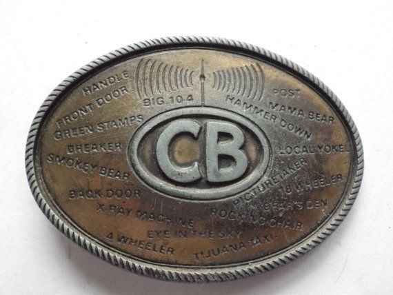 CB Radio Truckers Slang Belt Buckle Vintage http://etsy.me/1tJaXVC via @Etsy