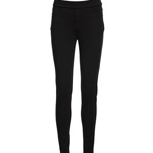 AISHA slimfit pants, sort - w elastic waist. Beautiful slim fit pant in soft, pleasant viscose.  Same style as our AISHA slim fit pant, but this model has an elastic waist instead of a waistband