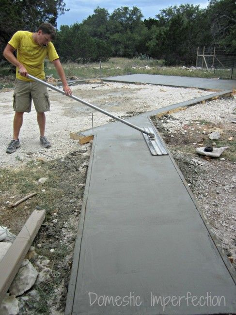 DIY Garage foundation