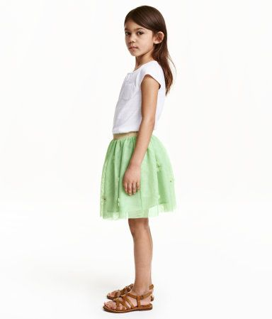 Tulle Skirt with Flowers   H&M
