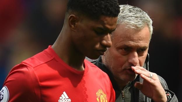 "Marcus Rashford has won the Europa League, FA Cup, League Cup and Community Shield since making his debut for Manchester United in February 2016 Gareth Southgate says keeping Manchester United boss Jose Mourinho happy will be ""fairly difficult"" – but it won't stop him..."