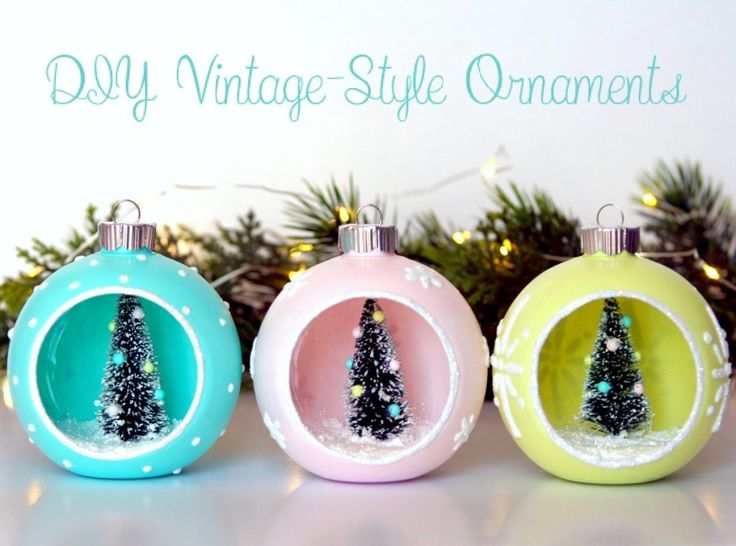 1078 best christmas winter crafts diy ideas images on pinterest if you love the look of vintage christmas ornaments but cant find any around solutioingenieria Choice Image