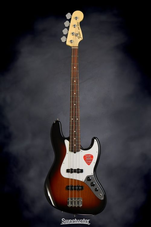 Fender American Special Jazz Bass - 3-Tone Sunburst | Sweetwater.com. Solidbody Bass with Alder Body, Slim Maple Neck, Rosewood Fretboard, 2 Single-coil Pickups, and Greasebucket Tone Circuit - 3-Tone Sunburst