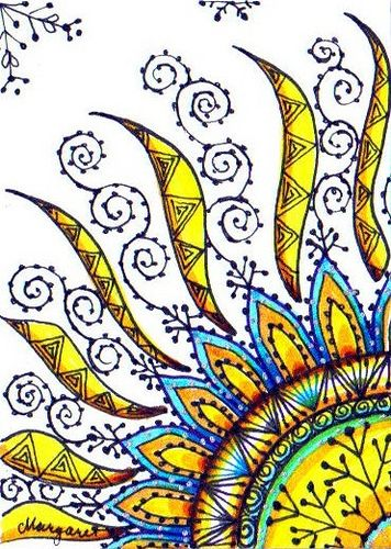 WINTER SUN #2 by Margaret Storer-Roche,