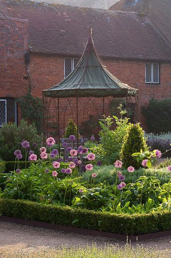 Beautifully-restored walled Tudor garden at Cowdray, West Sussex...♔..