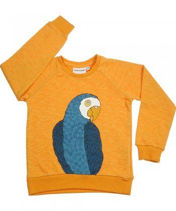 orange parrot sweatshirt