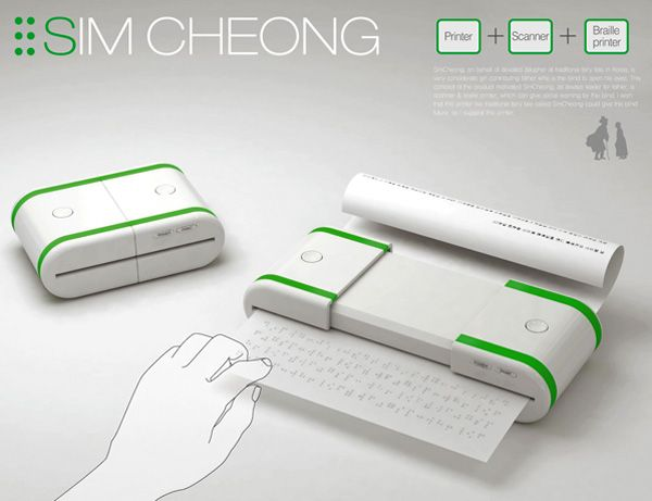 This pocket-printer is capable of printing and scanning documents in Braille. It looks easy to operate and when supporting technology is available, I am sure it will be a great help.