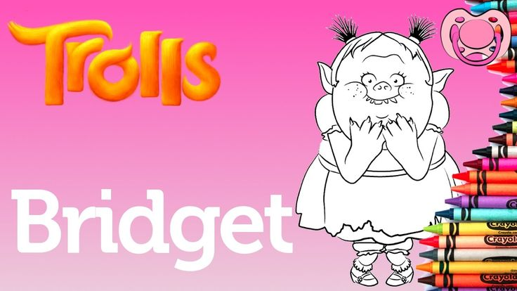 Trolls 🖍 Colorir a Bridget
